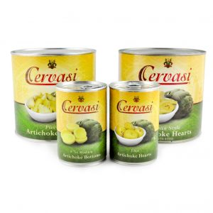 Group of canned artichokes