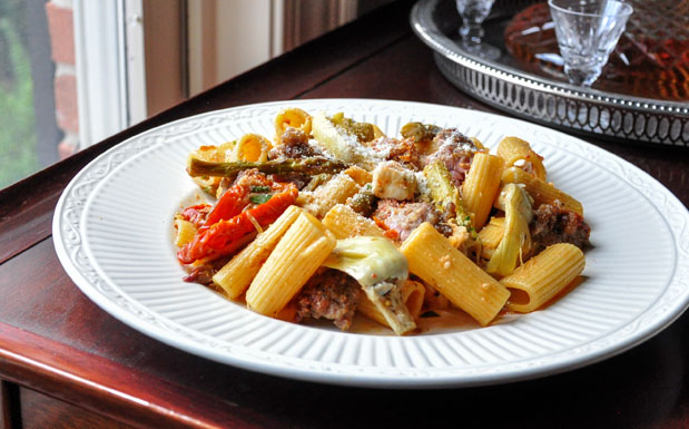 Plate of Rigatoni & Sausage meal