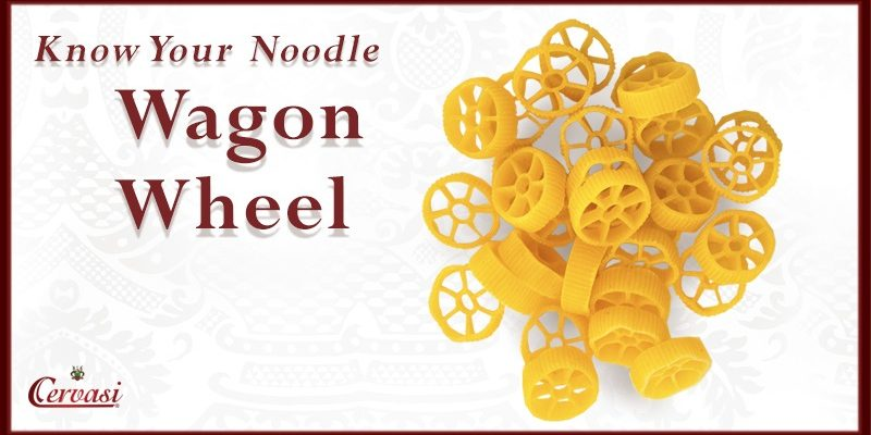 Uncooked wagon wheel pasta