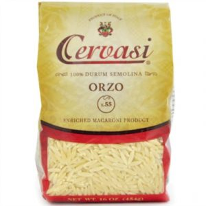 Bag of Cervasi's Orzo pasta