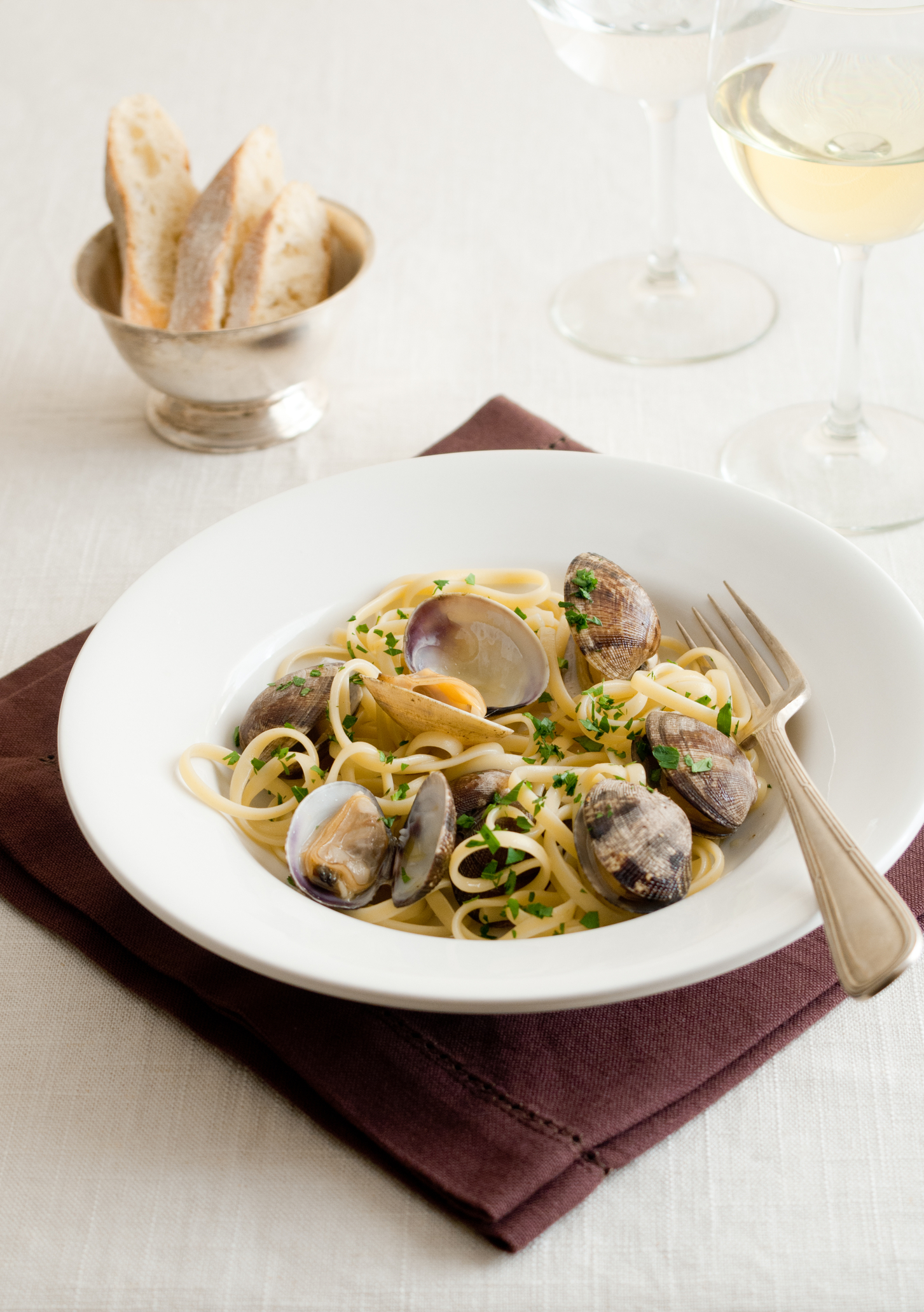 Plate of Linguine with Clams
