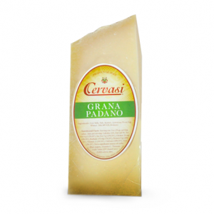 Wedge of Cervasi Grana Padano hard Italian cheese