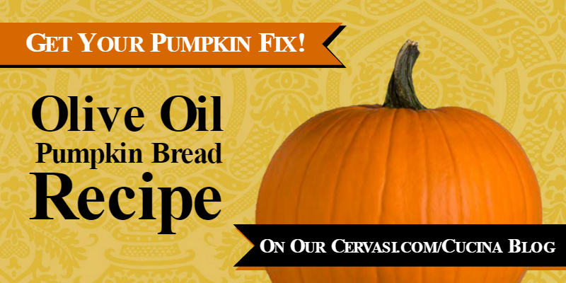 Move Over #PSL, It's Pumpkin Olive Oil Bread Time