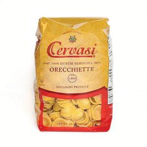 Retail bag of Cervasi orecchiette pasta