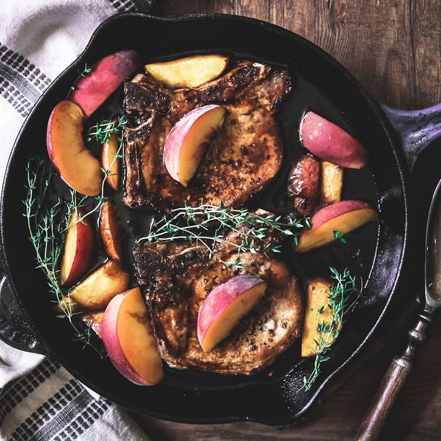 Peaches and Pork Chops